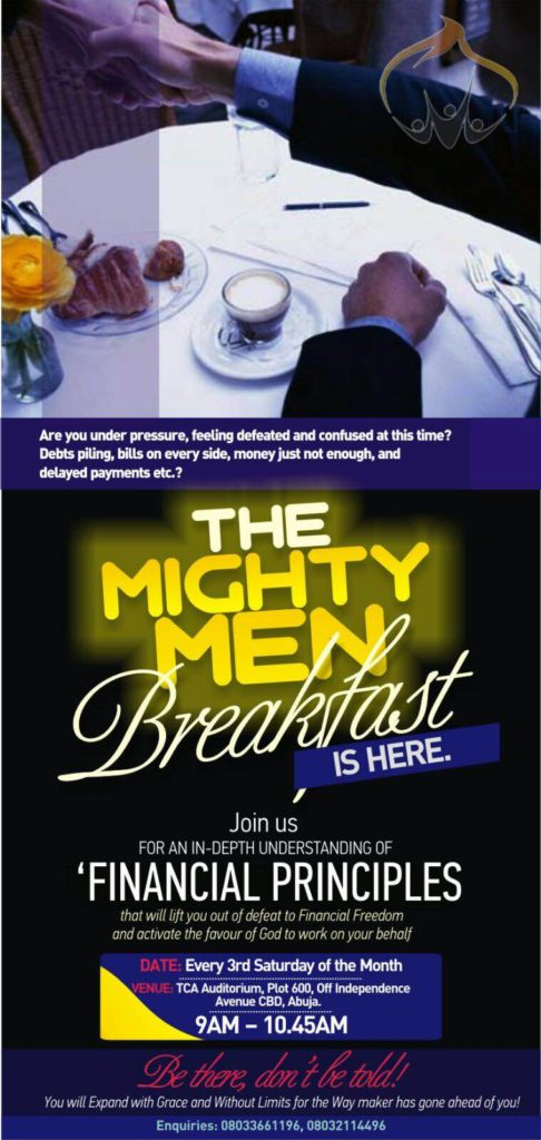 Mighty Men Breakfast @ The Capital Assembly Auditorium | Abuja | Federal Capital Territory | Nigeria